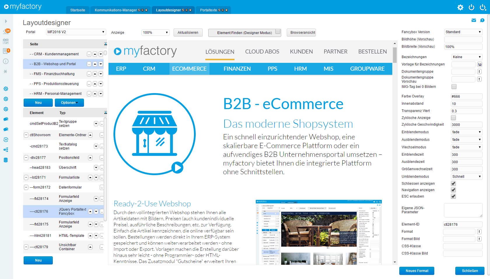 E-Commerce – myfactory: Internetauftritt